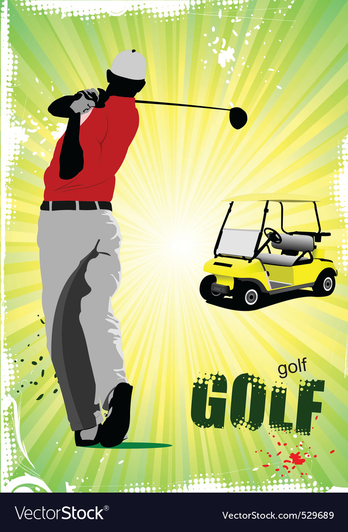Golf poster vector | Price: 1 Credit (USD $1)