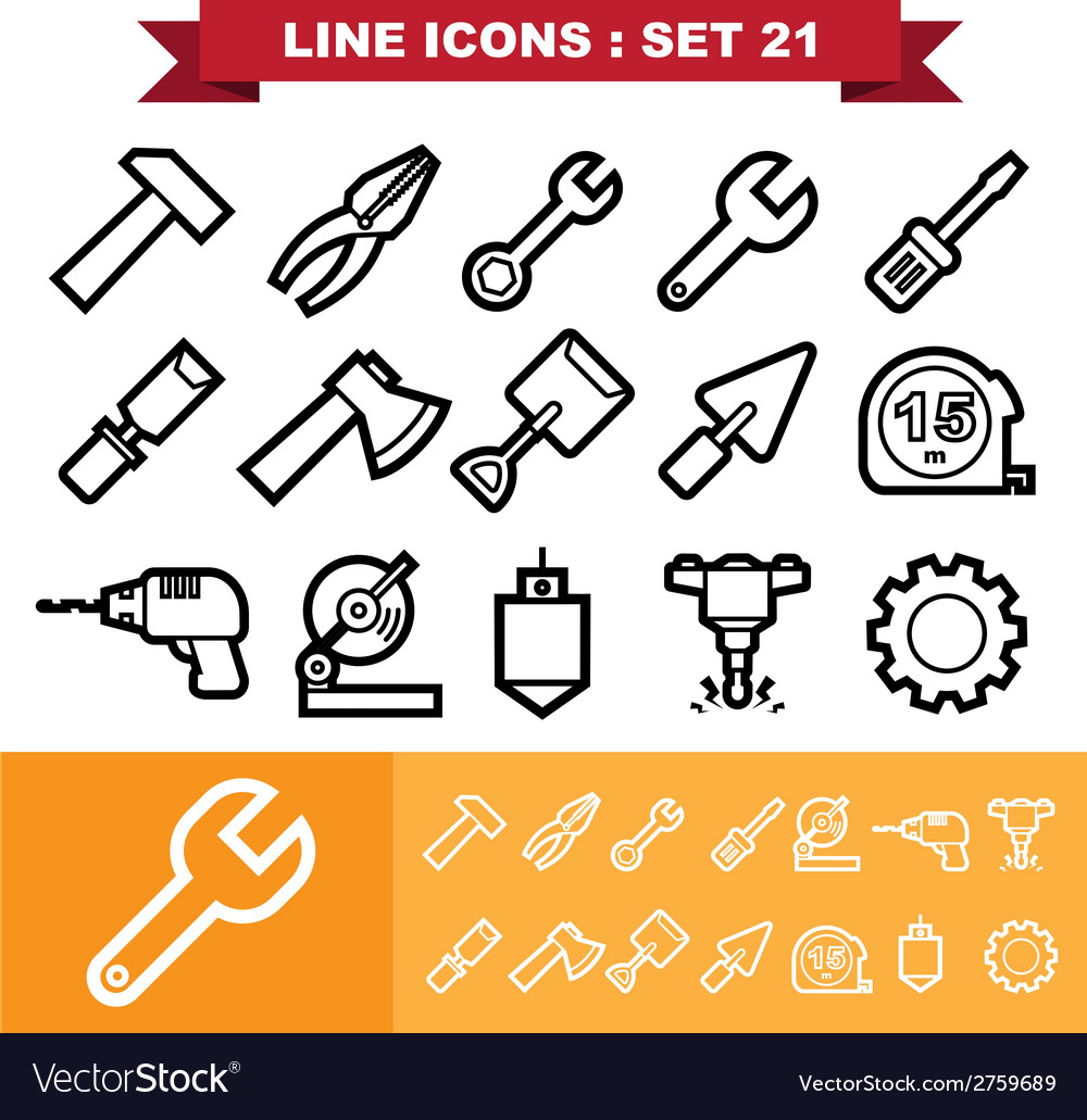 Line icons set 21 vector | Price: 1 Credit (USD $1)