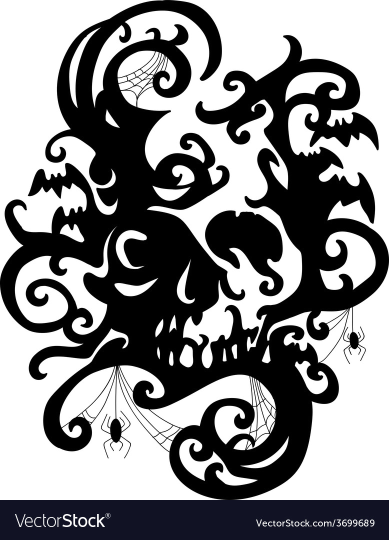 Spiderskull vector | Price: 1 Credit (USD $1)