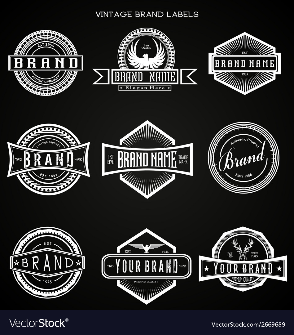 Vintage brand labels vector | Price: 1 Credit (USD $1)