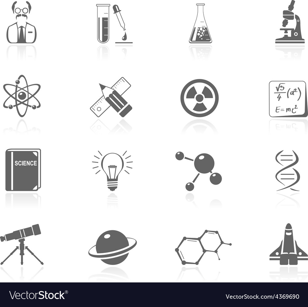 Black icons - science vector | Price: 1 Credit (USD $1)