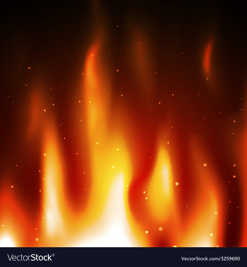 Burn flame fire background vector | Price: 1 Credit (USD $1)
