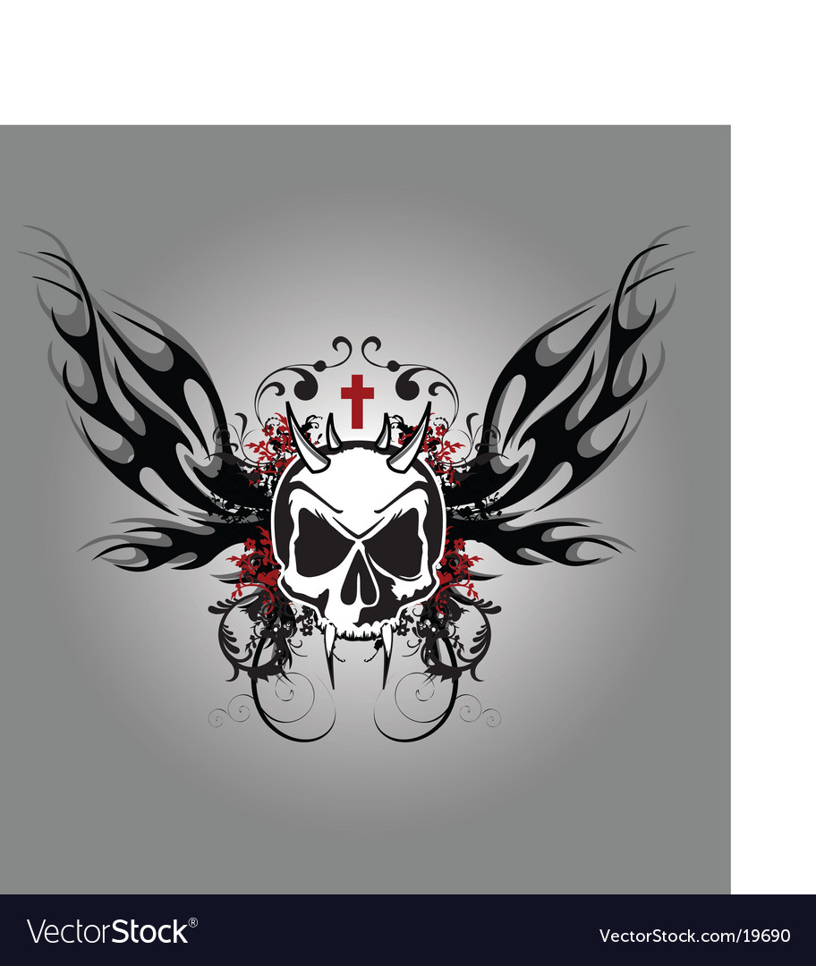 Darkness skull vector | Price: 1 Credit (USD $1)
