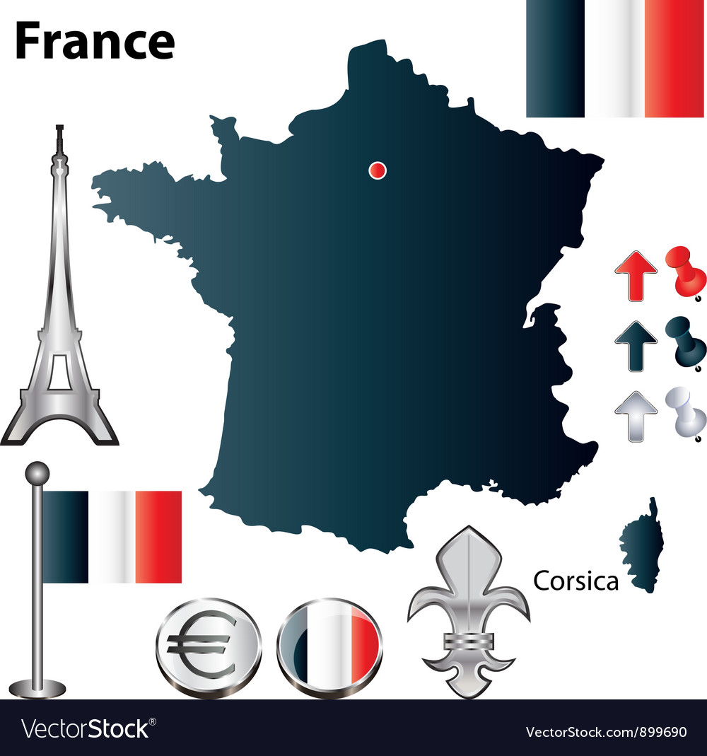 France flag small vector | Price: 1 Credit (USD $1)
