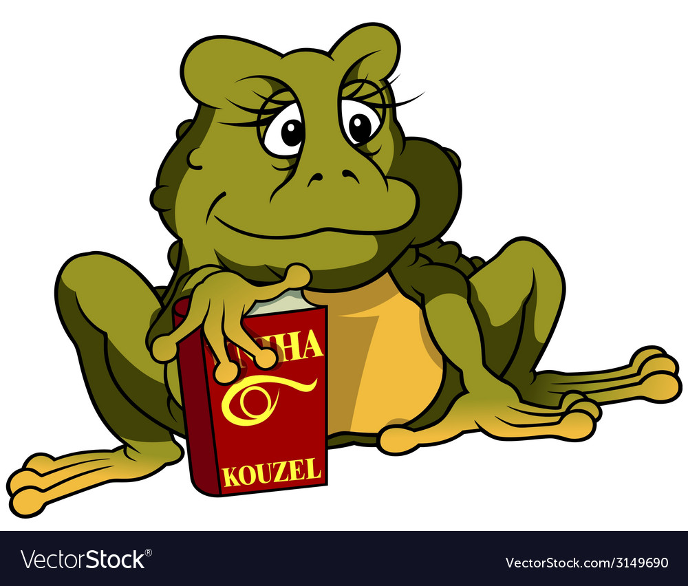 Frog and book vector | Price: 1 Credit (USD $1)