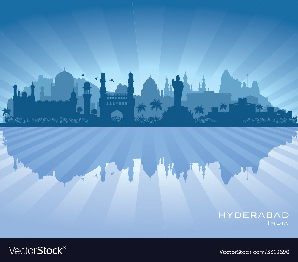 Hyderabad india city skyline silhouette vector | Price: 1 Credit (USD $1)