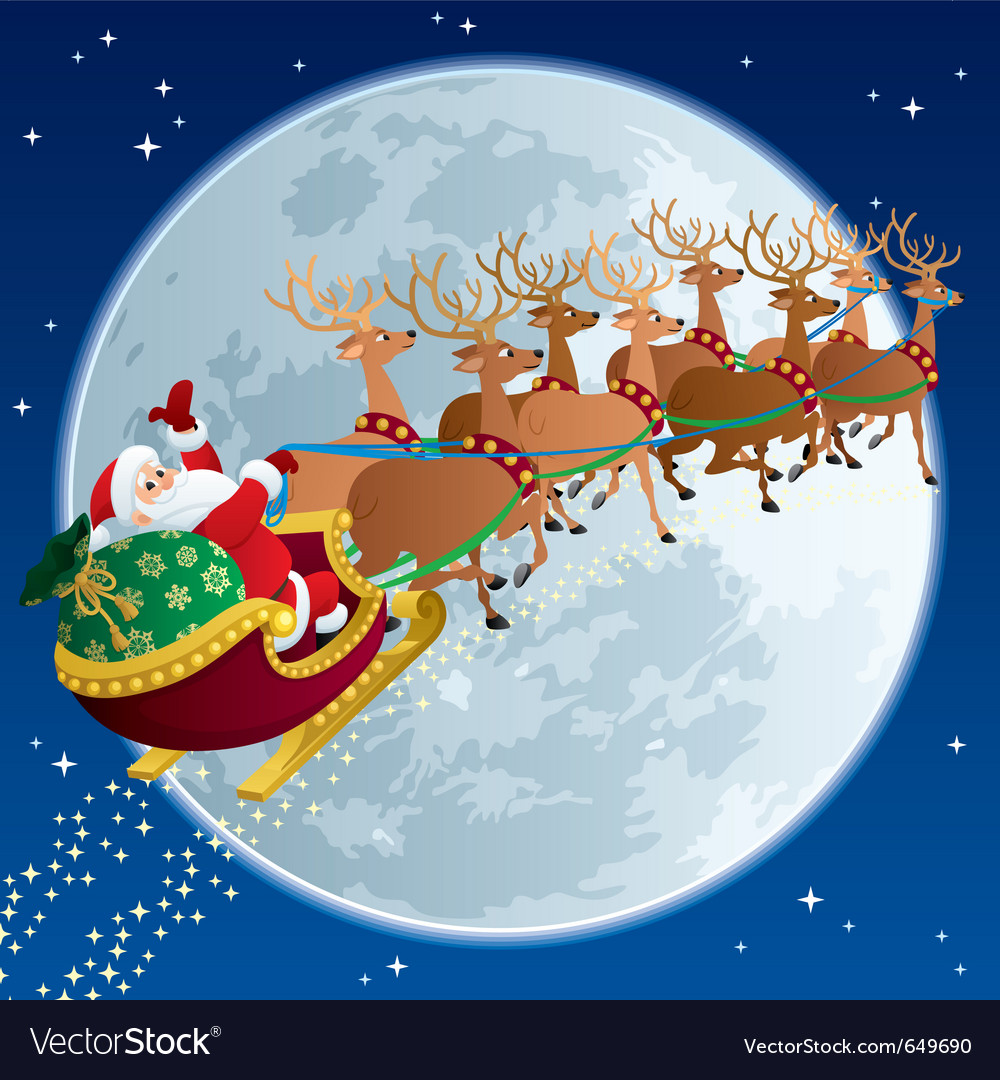Santa sleigh vector | Price: 1 Credit (USD $1)
