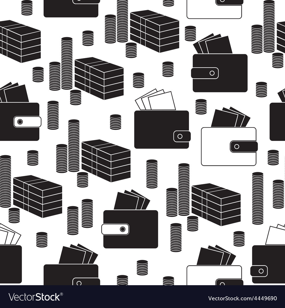 Seamless money pattern on white background vector | Price: 1 Credit (USD $1)