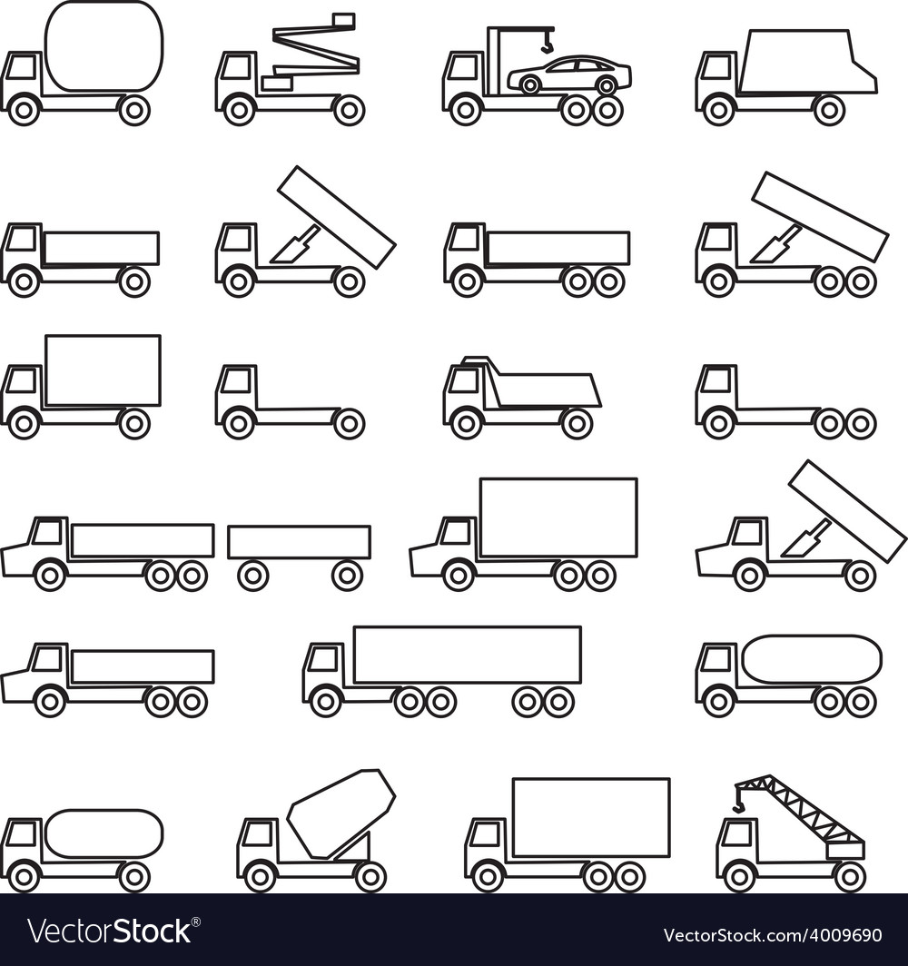 Set of icons - transportation symbols vector | Price: 1 Credit (USD $1)