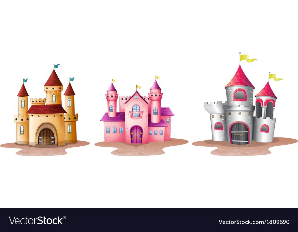 Three different castles vector | Price: 1 Credit (USD $1)