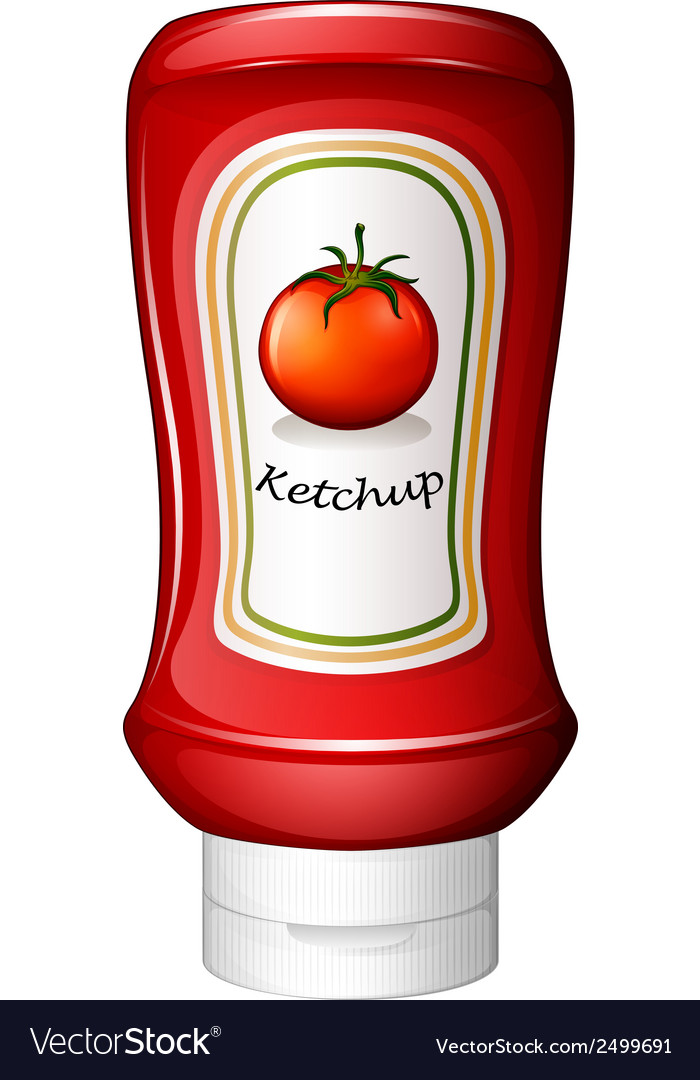 A ketchup inside the red bottle vector | Price: 1 Credit (USD $1)