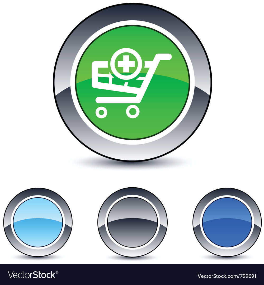 Add to cart round button vector | Price: 1 Credit (USD $1)