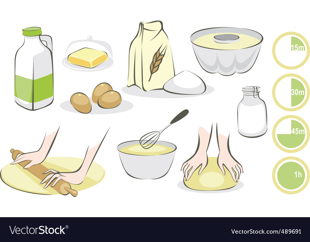 Baking set vector | Price: 1 Credit (USD $1)