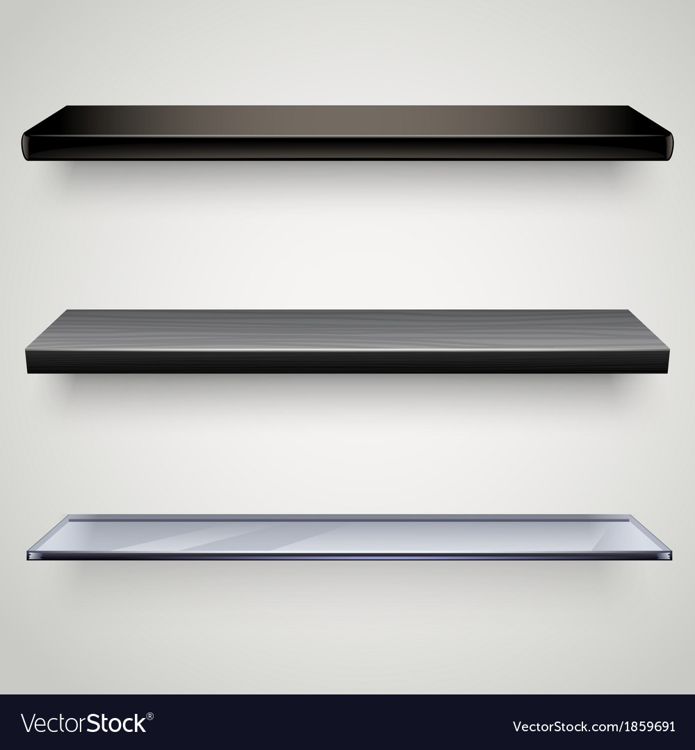 Black shelves vector | Price: 1 Credit (USD $1)