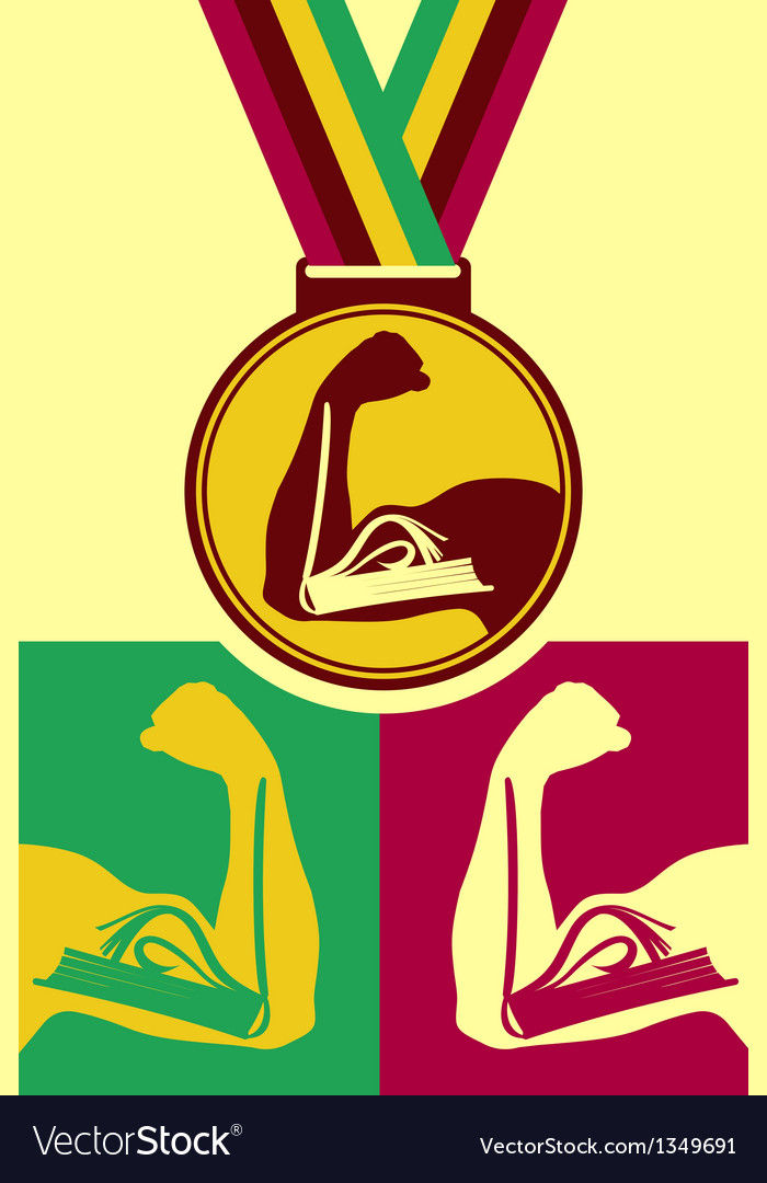 Book medal vector | Price: 1 Credit (USD $1)
