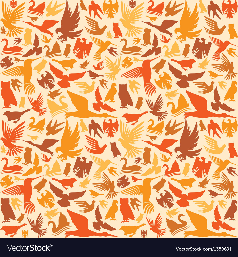 Decorative bird background vector | Price: 1 Credit (USD $1)