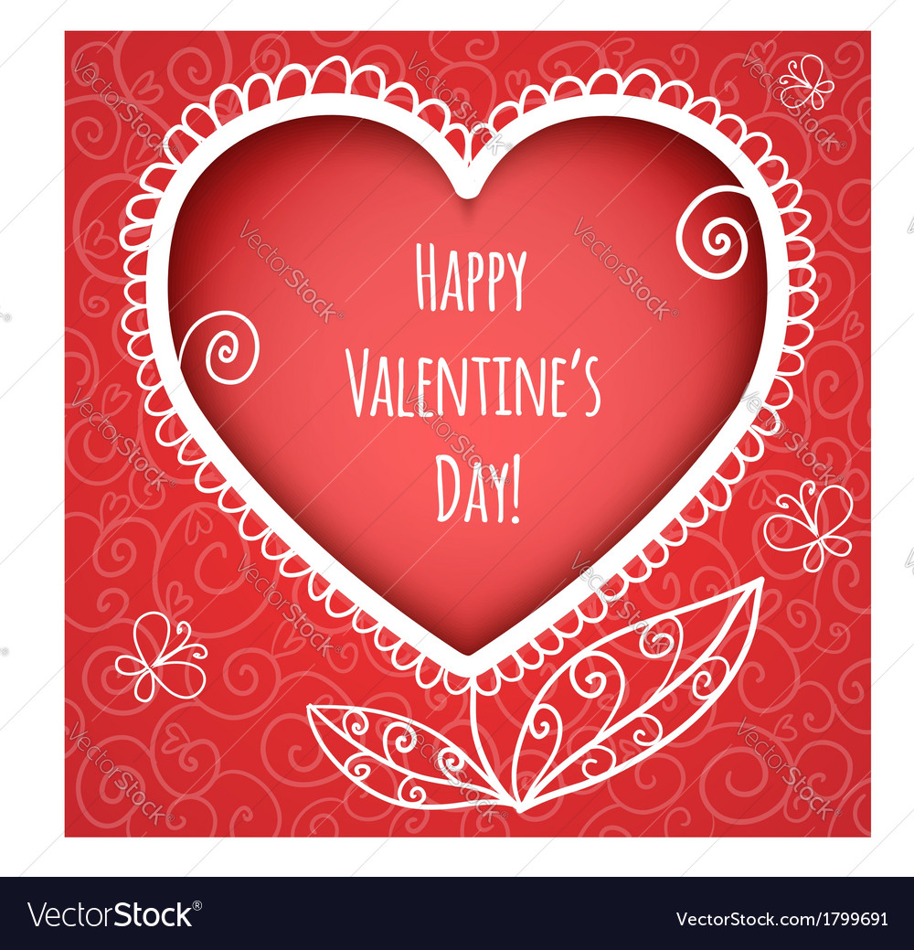 Decorative red heart for valentines day vector | Price: 1 Credit (USD $1)