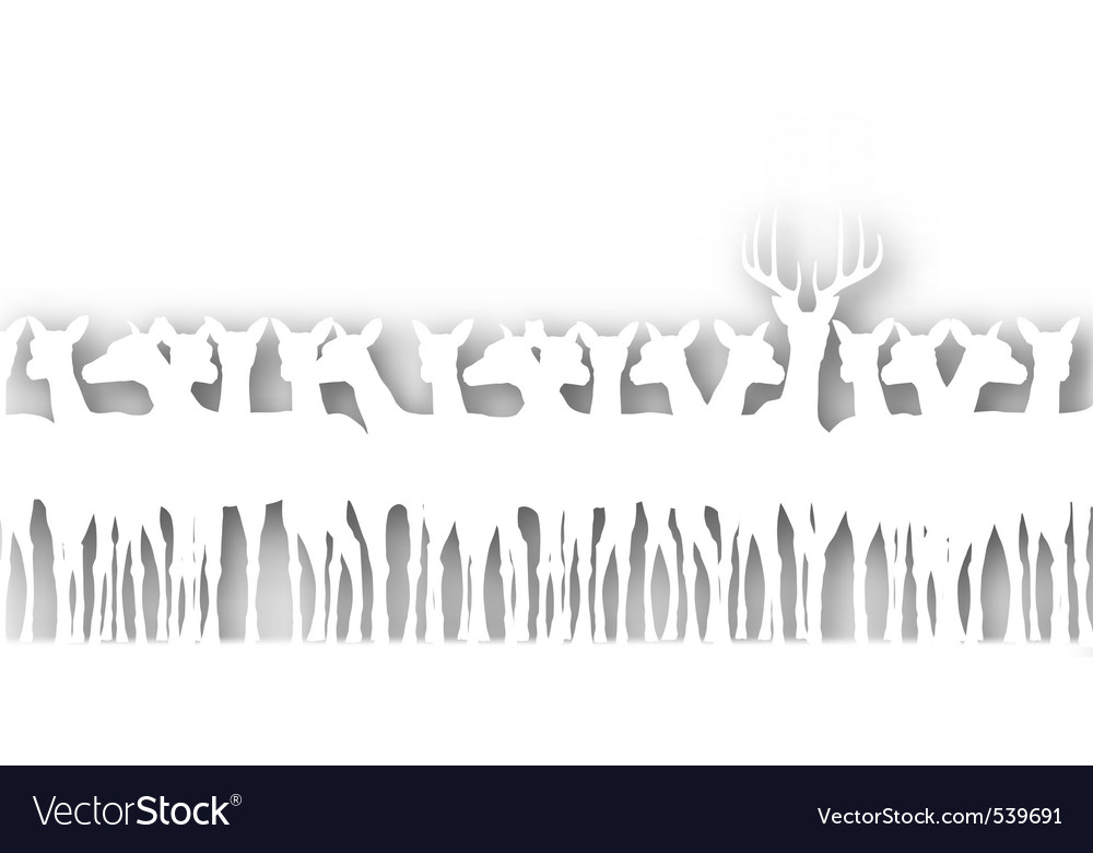 Deer cutout vector | Price: 1 Credit (USD $1)