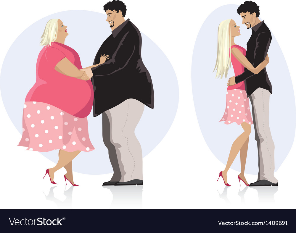 Dieting couple in love vector | Price: 3 Credit (USD $3)
