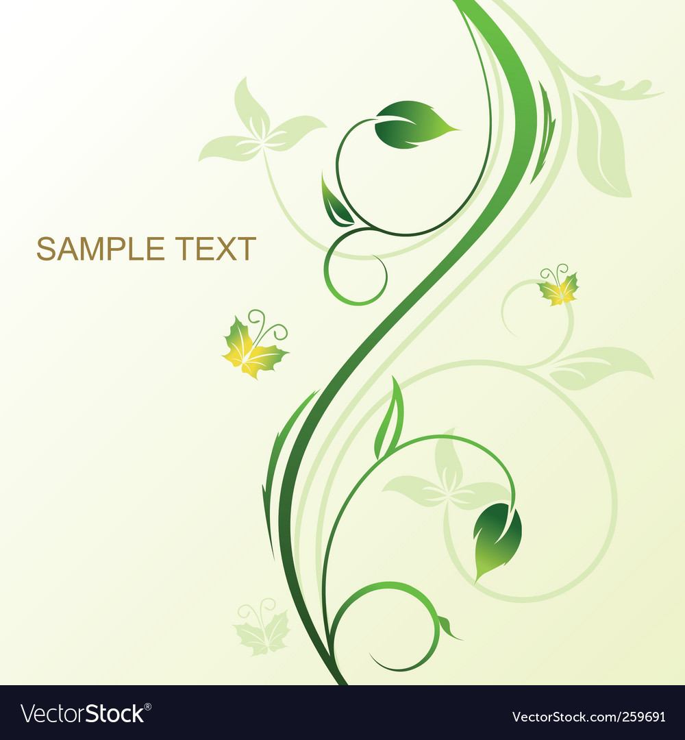 Floral decorative vector | Price: 1 Credit (USD $1)