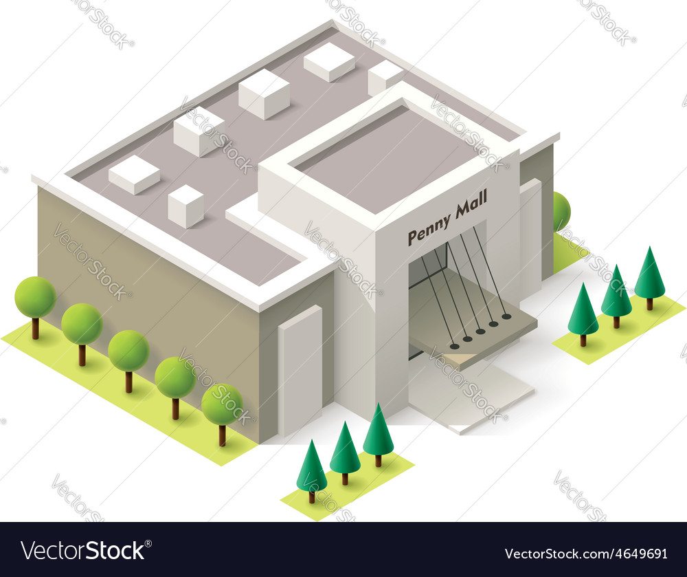 Isometric shopping mall vector | Price: 1 Credit (USD $1)