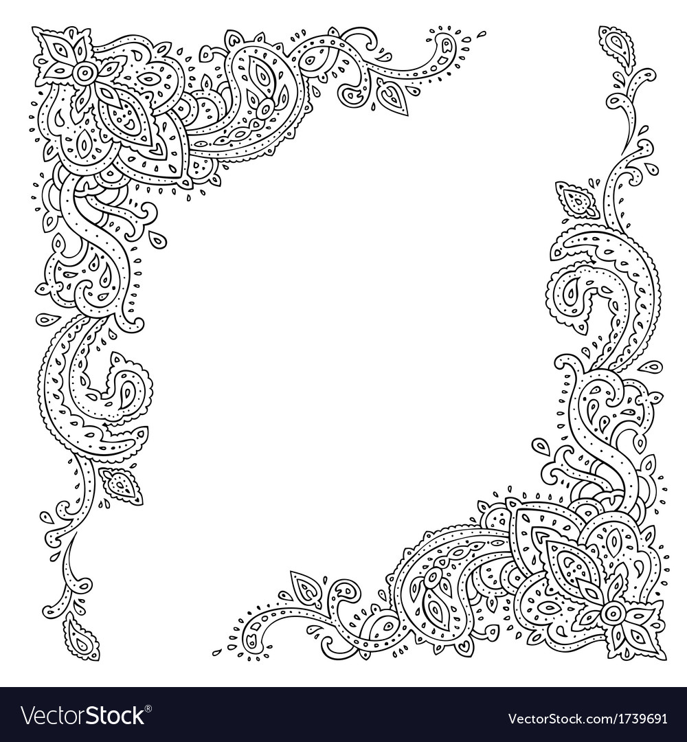 Paisley ethnic ornament vector | Price: 1 Credit (USD $1)