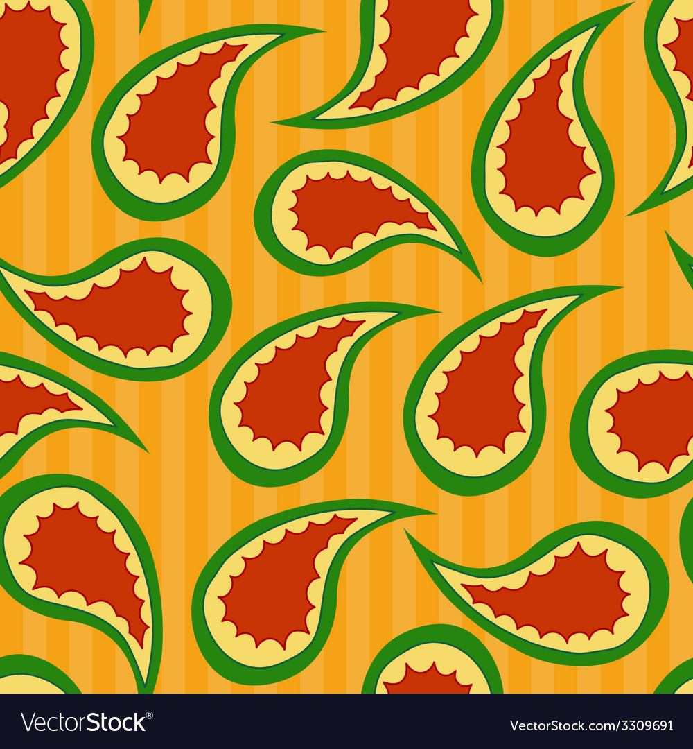 Paisley seamless pattern vector | Price: 1 Credit (USD $1)