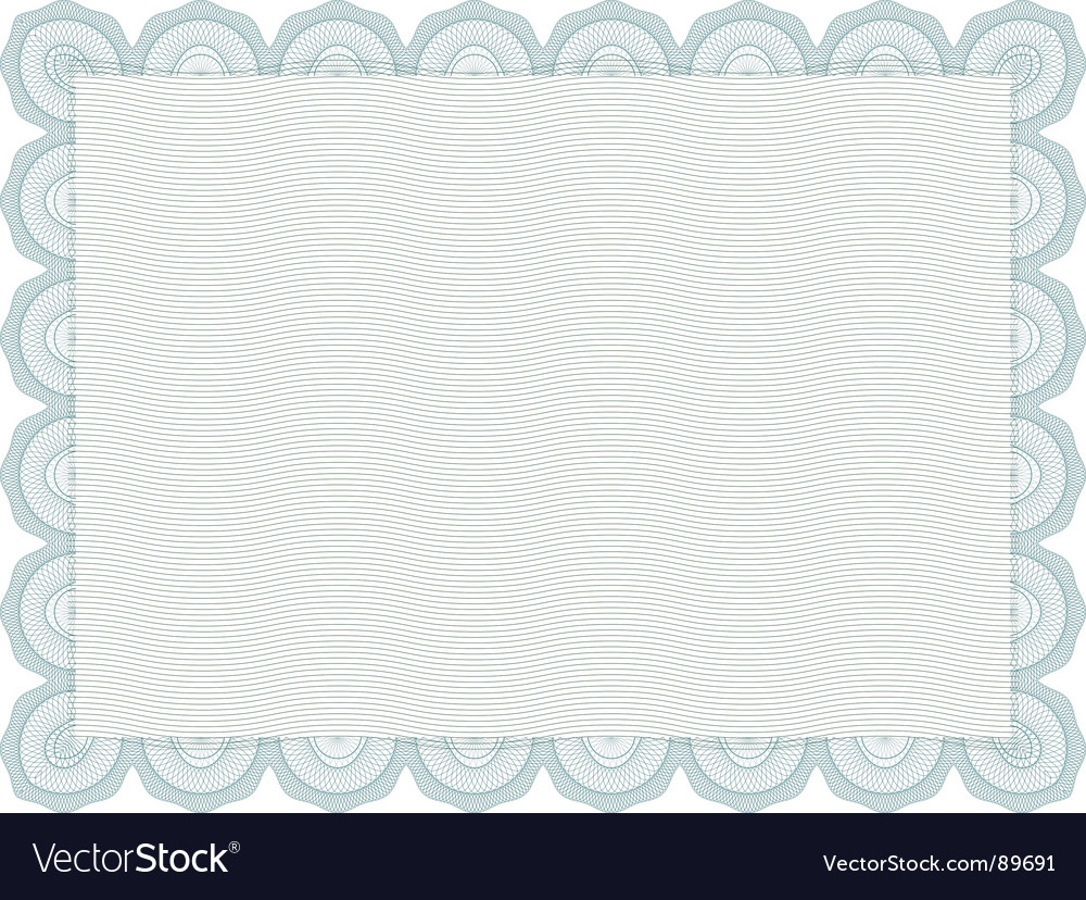 Secure blank certificate vector | Price: 1 Credit (USD $1)