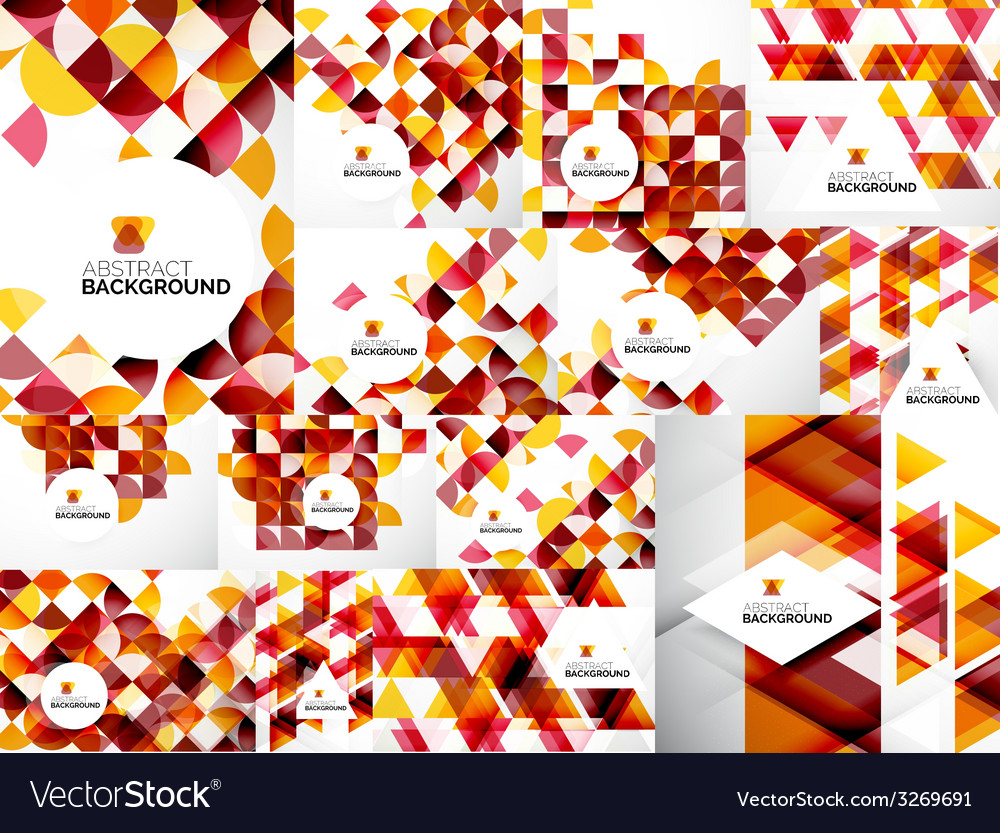 Set of abstract geometric flyer templates vector | Price: 1 Credit (USD $1)