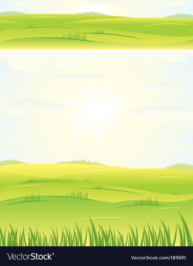 Summer landscape vector   Price: 1 Credit (USD $1)