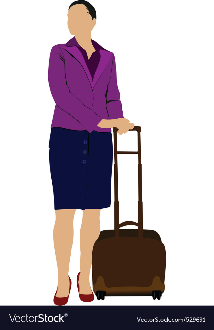 Travelling woman vector | Price: 1 Credit (USD $1)
