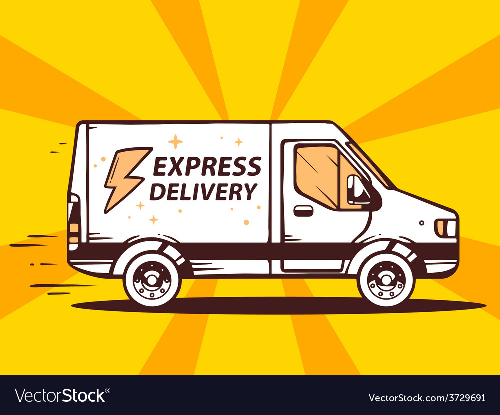 Van free and fast express delivery to cus vector | Price: 1 Credit (USD $1)