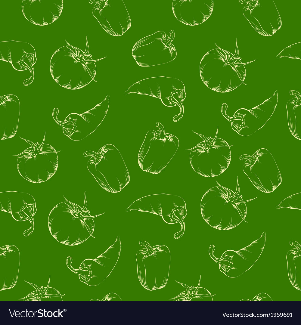 Vegetable pattern - green vector | Price: 1 Credit (USD $1)
