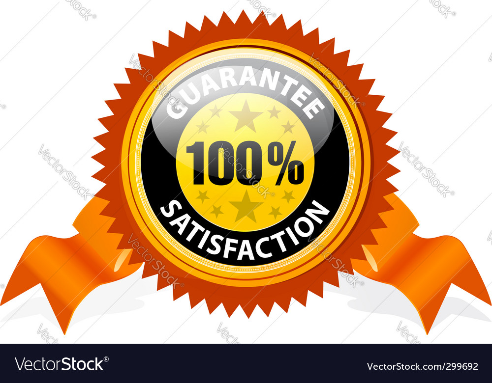 100% satisfaction guaranteed sign vector | Price: 1 Credit (USD $1)