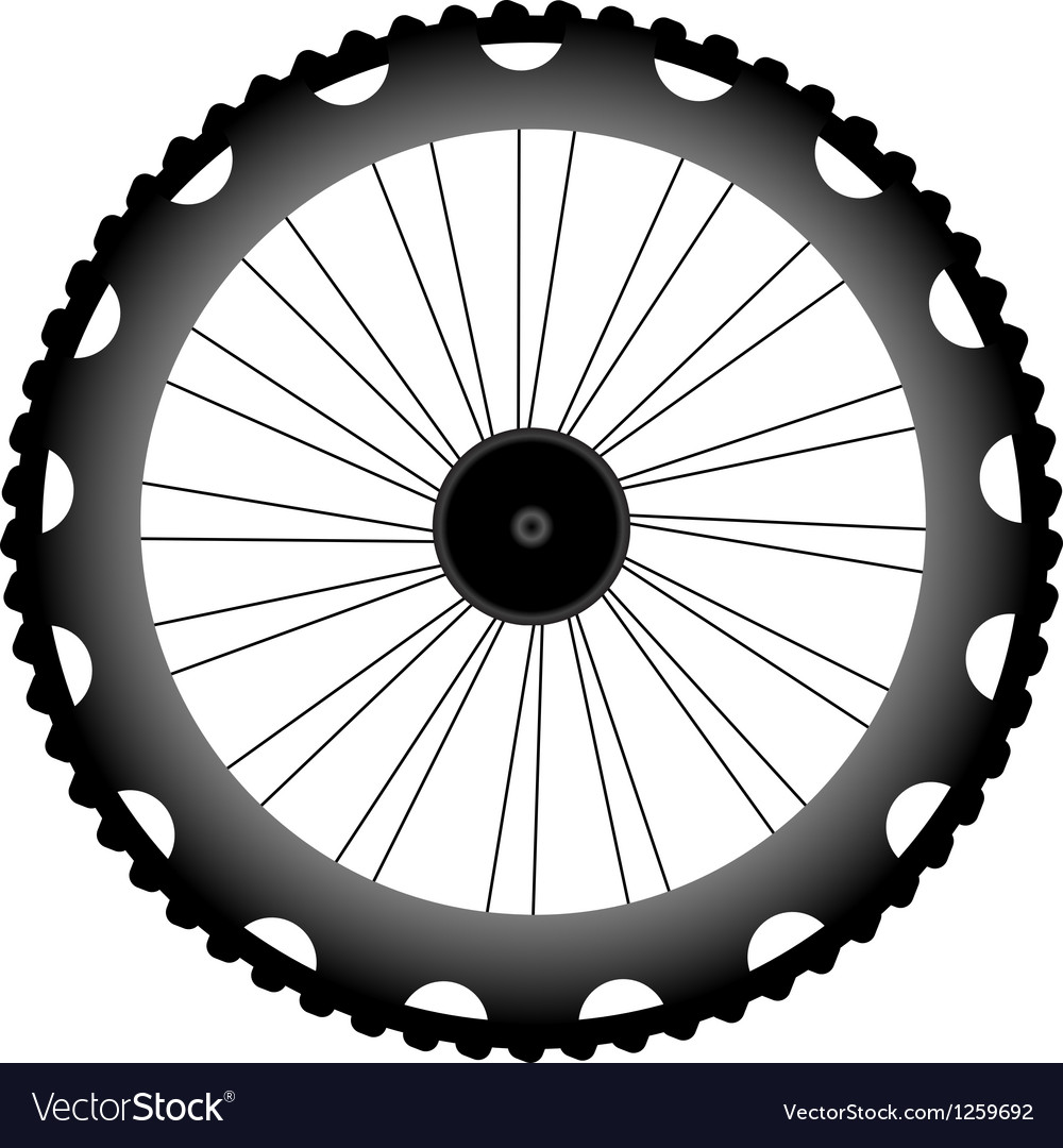 Bike wheel black silhouette vector | Price: 1 Credit (USD $1)