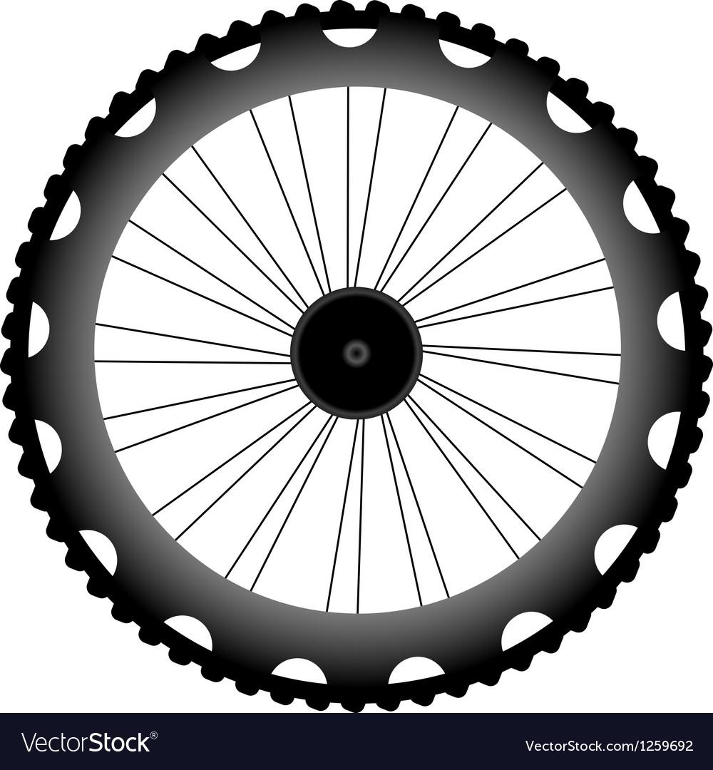 Bike wheel black silhouette vector | Price: 1 Credit (USD $1)
