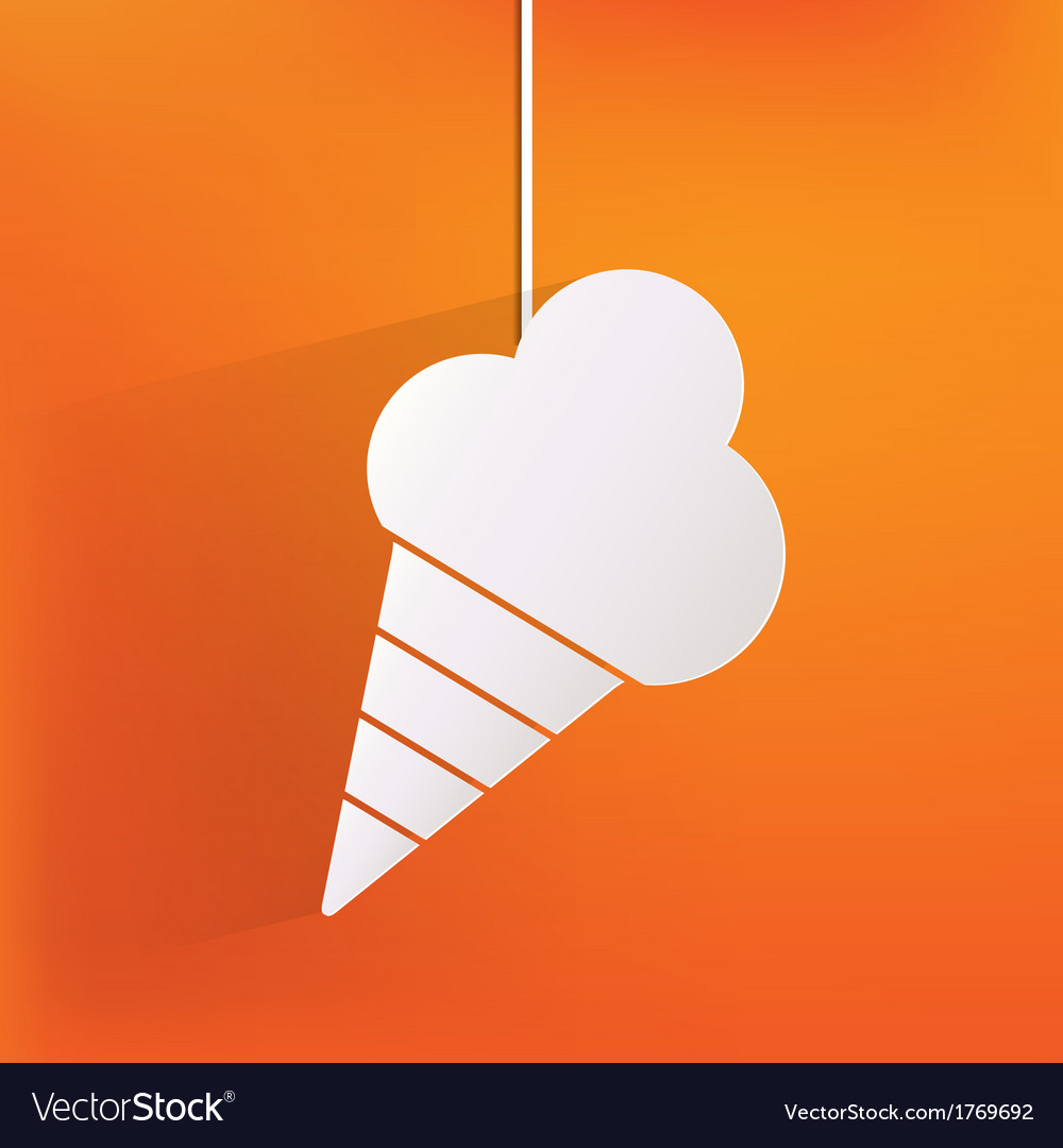 Ice cream web icon vector | Price: 1 Credit (USD $1)
