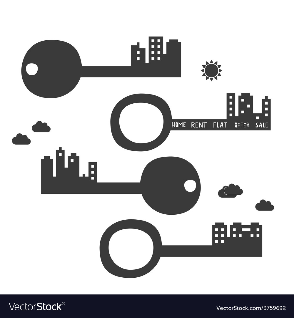 Key from your new flat vector | Price: 1 Credit (USD $1)