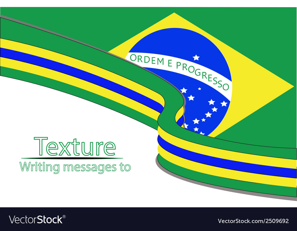 New-text-flag-brazil vector | Price: 1 Credit (USD $1)