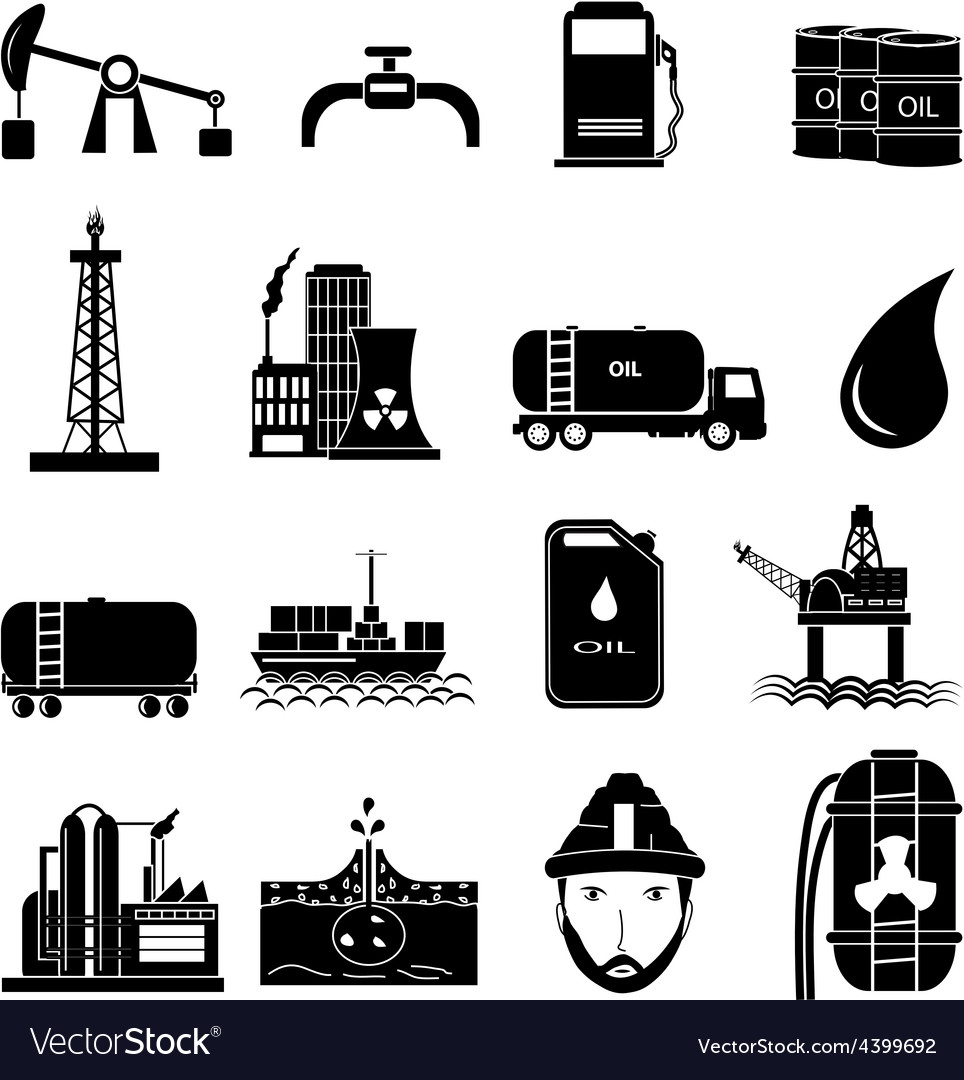 Oil industry icons set vector | Price: 1 Credit (USD $1)
