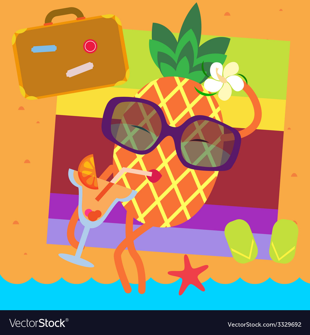 Pineapple vacations vector | Price: 1 Credit (USD $1)