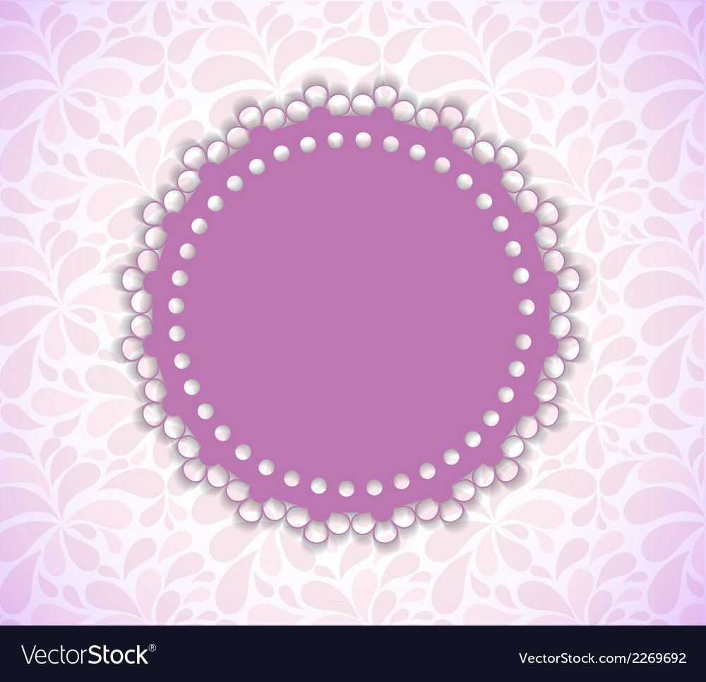 Romantic flower frame background vector | Price: 1 Credit (USD $1)