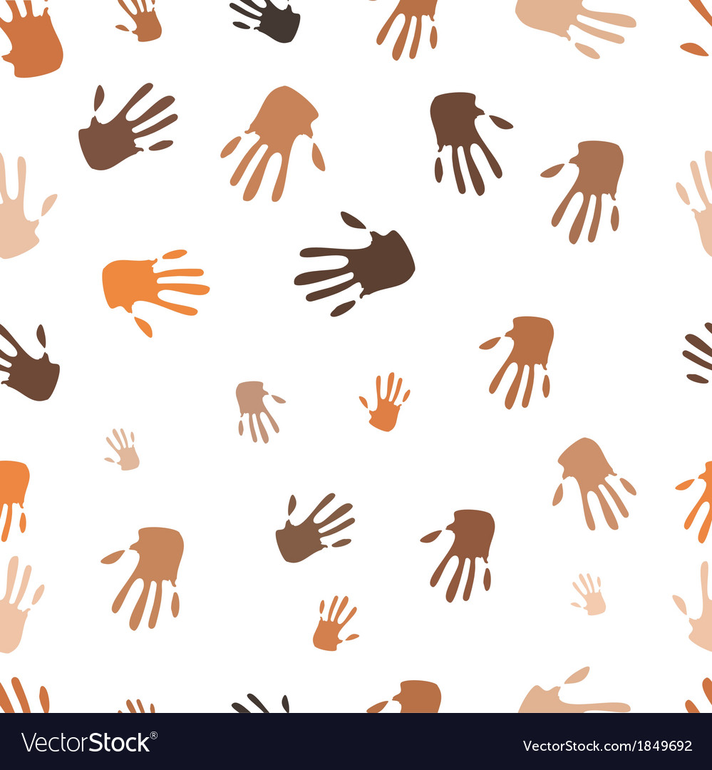 Seamless pattern of hand vector | Price: 1 Credit (USD $1)