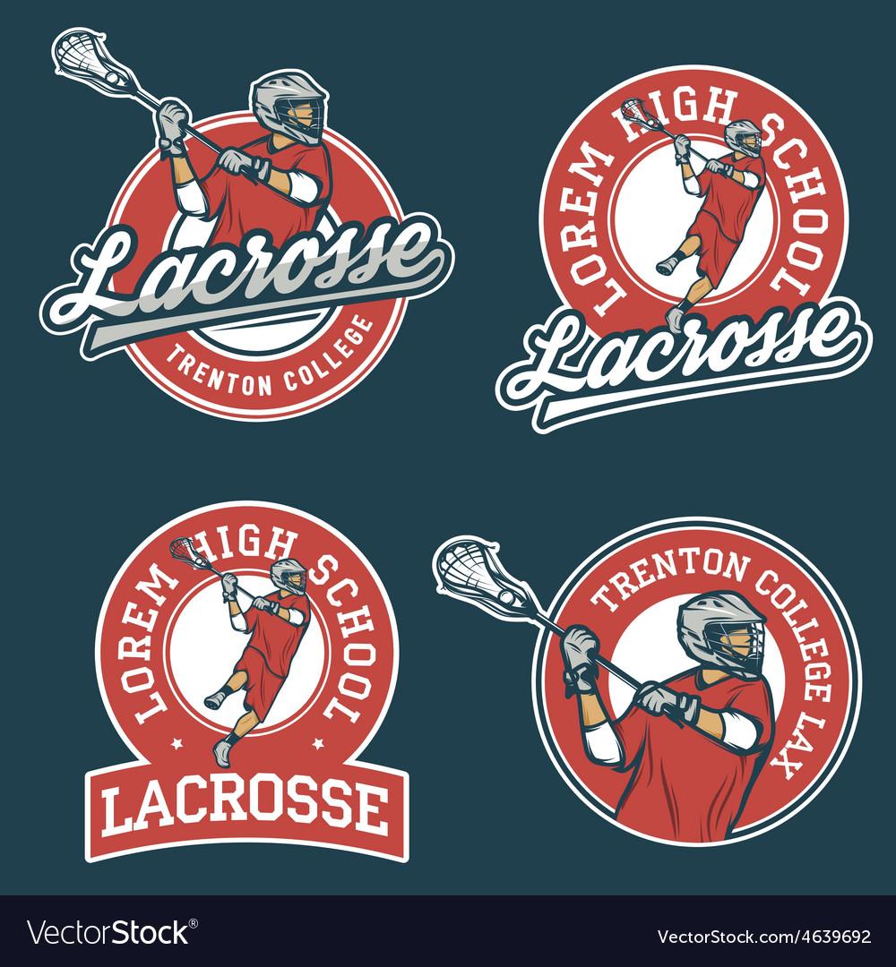 Set of lacrosse team emblems vector | Price: 1 Credit (USD $1)