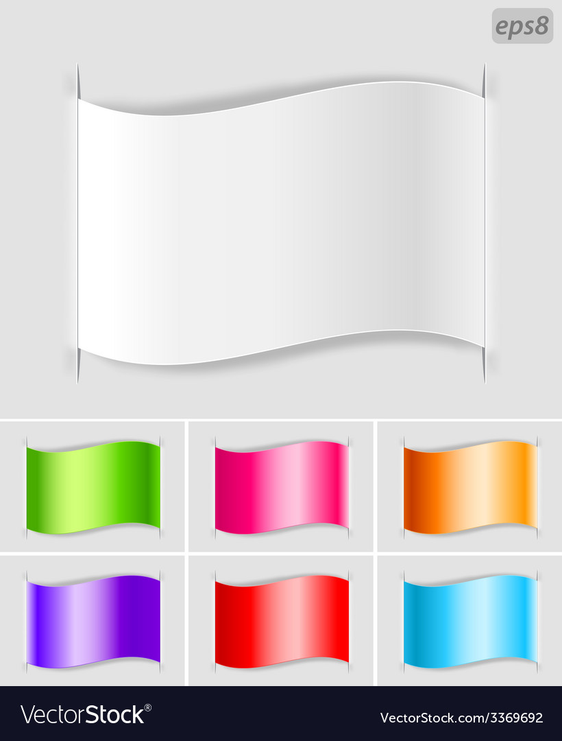 Set of paper labels vector | Price: 1 Credit (USD $1)
