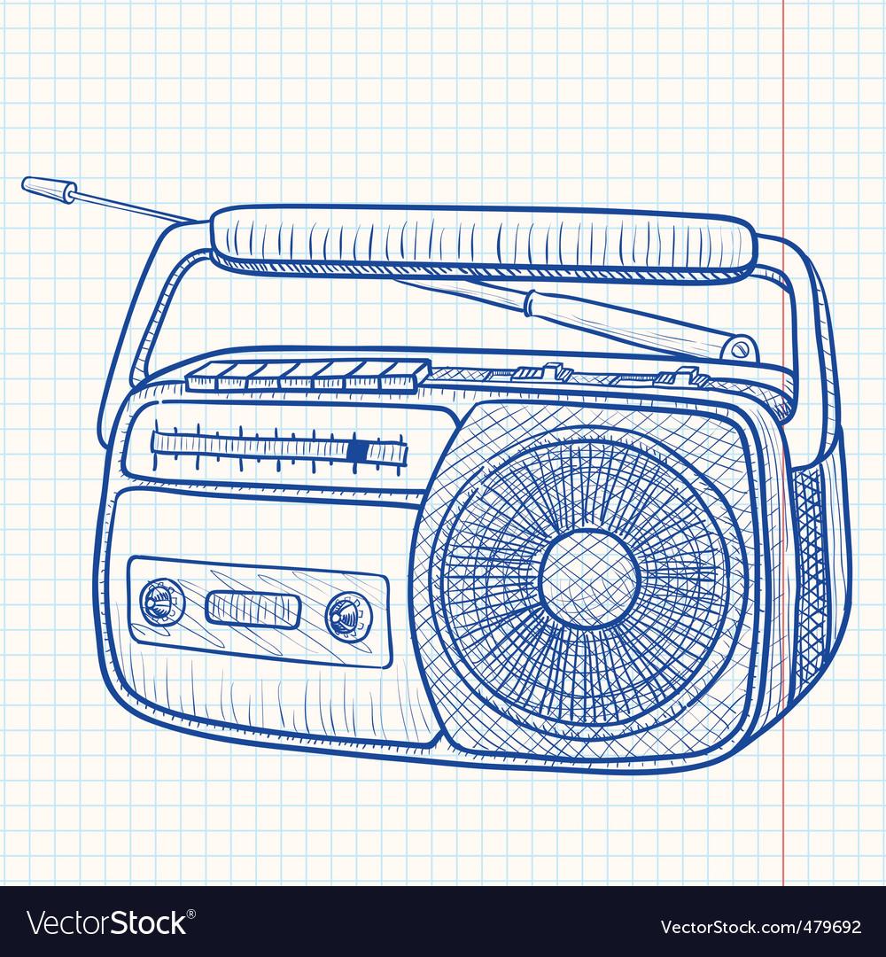 Tape recorder vector | Price: 1 Credit (USD $1)
