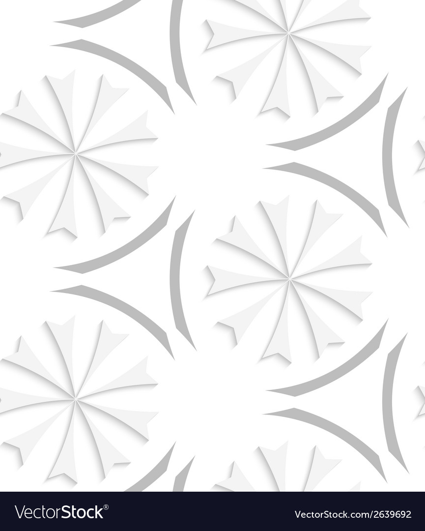 White geometrical flowers and gray elements vector | Price: 1 Credit (USD $1)