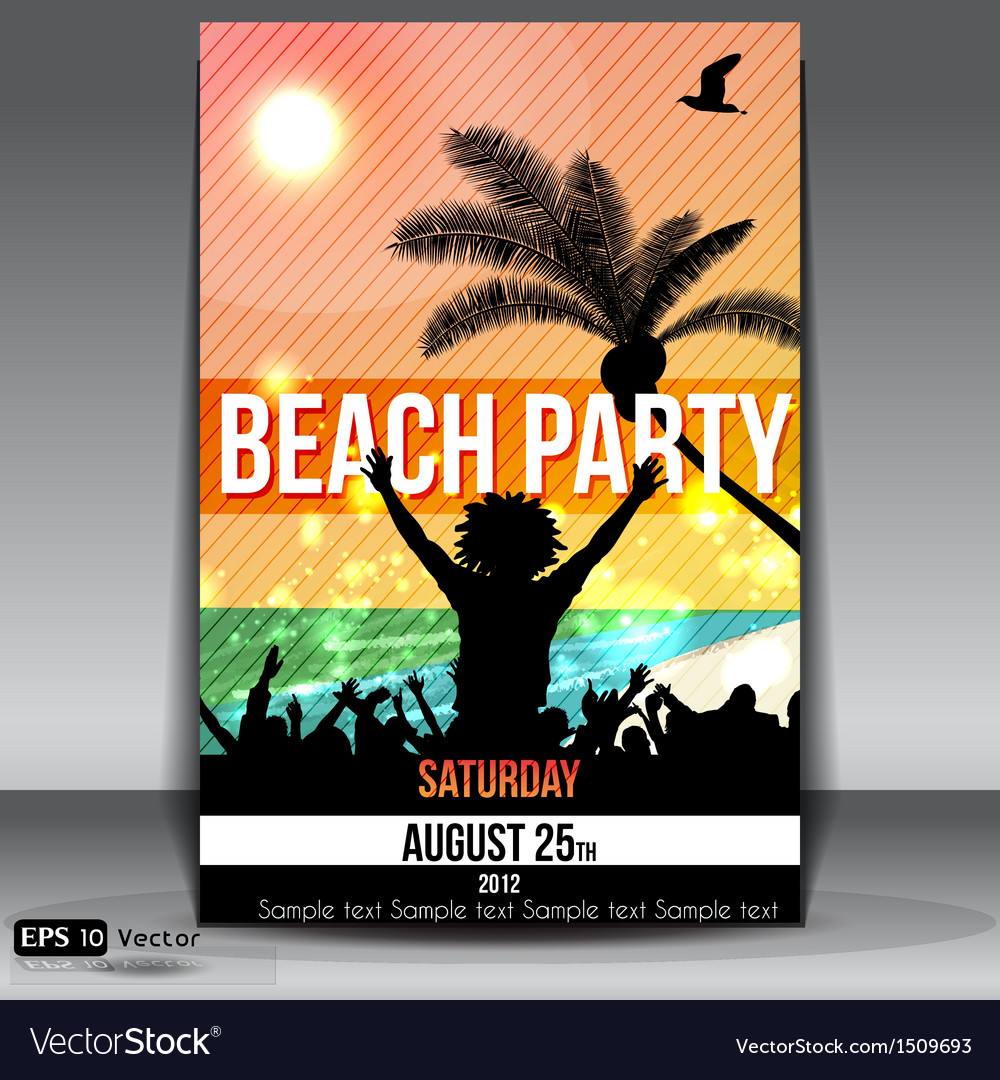 Beach party vector | Price: 1 Credit (USD $1)