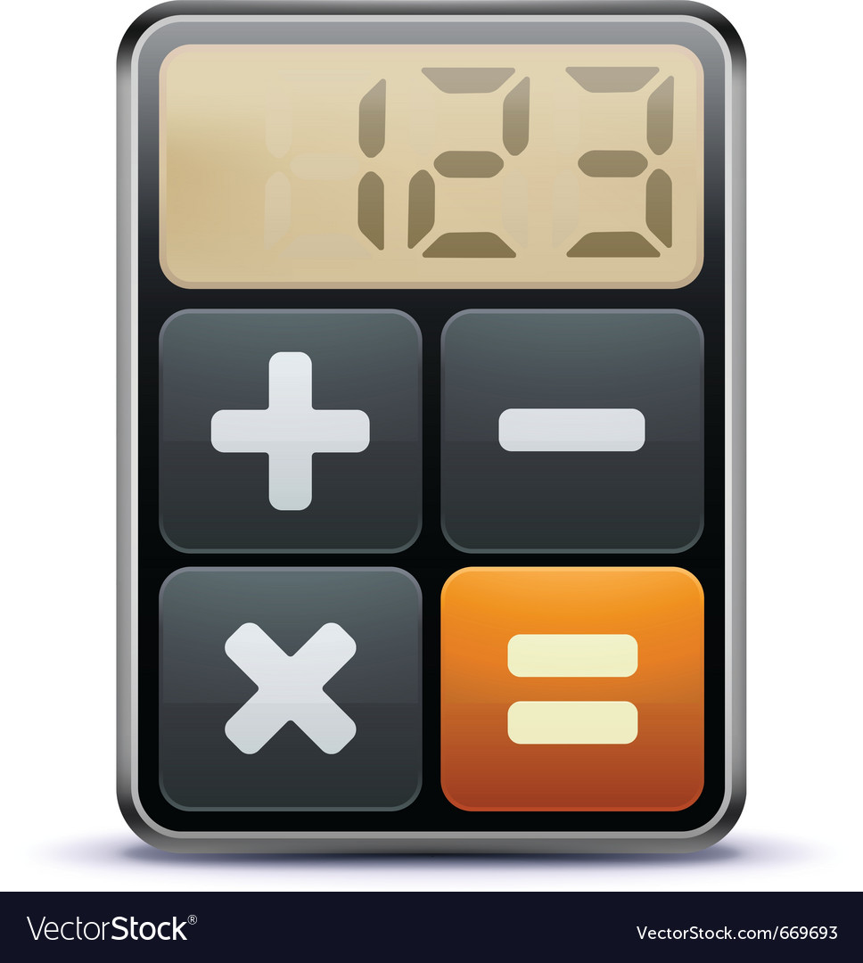 Calculator icon vector | Price: 3 Credit (USD $3)