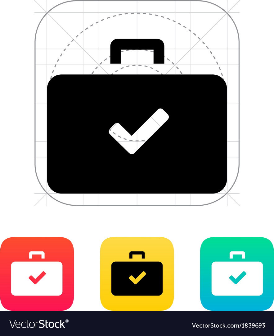 Check case icon vector | Price: 1 Credit (USD $1)